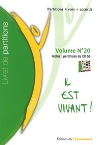 Emmanuel (Editions de l') - Livret de partitions, volume n°20 - Partitions 4 voix + accords.