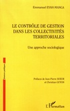 Emmanuel Evah-Manga - Le contrôle de gestion dans les collectivités territoriales - Une approche sociologique.