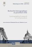 Emmanuel Jeuland et Shaheeza Lalani - Recherche lexicographique en procédure civile.
