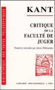 Lesmouchescestlouche.fr Critique de la faculté de juger Image