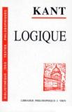 Emmanuel Kant - LOGIQUE. - 2ème édition revue et augmentée.
