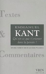 Emmanuel Kant - Qu'est-ce que s'orienter dans la pensée ?.