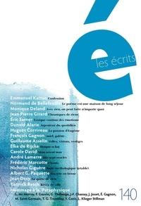 Emmanuel Kattan et Normand de Bellefeuille - Les écrits. No. 140. Mars 2014.