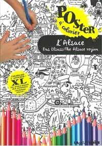 Emmanuel Kerner - L'Alsace - Poster à colorier.