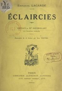 Emmanuel Lagarde et Alfred Baudrillart - Éclaircies.