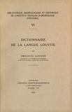 Emmanuel Laroche - Dictionnaire de la langue louvite.