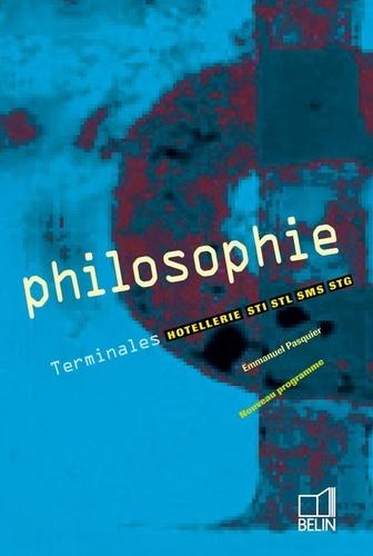 Emmanuel Pasquier - Philosophie Tle Hôtellerie-STI-STL-SMS-STG.