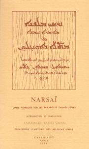 NARSAI. Cinq homélies sur les paraboles évangéliques, Edition biligue français-arabe - Emmanuel-Pataq Siman |