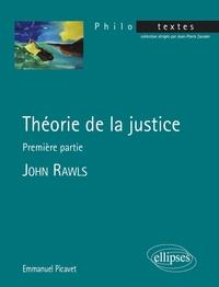 Emmanuel Picavet - Théorie de la justice - première partie - John Rawls.