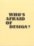 Emmanuel Tibloux - Who's afraid of design?.