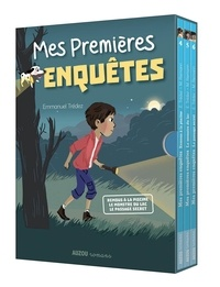 Emmanuel Trédez - Mes premières enquêtes  : Coffret en 3 volumes : Remous à la piscine ; Le monstre du lac ; Le passage secret.