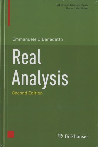 Emmanuele DiBenedetto - Real Analysis.