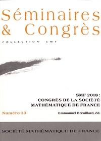 Emmanuelle Breuillard - SMF 2018 : congrès de la Société Mathématique de France.