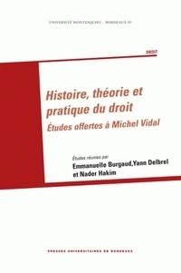 Emmanuelle Burgaud et Yann Delbrel - Histoire, théorie et pratique du droit - Etudes offertes à Michel Vidal.