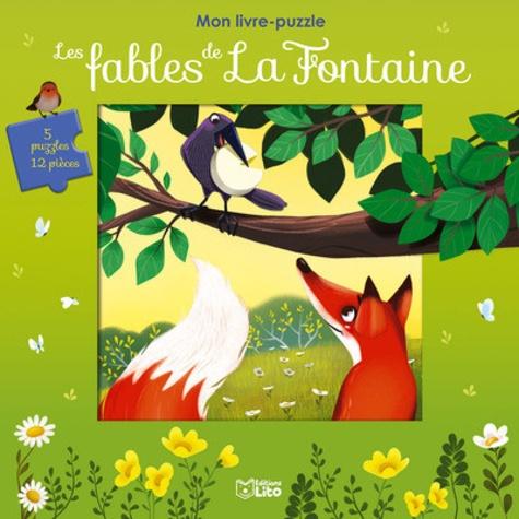 Les fables de La Fontaine. 5 puzzles de 12 pièces