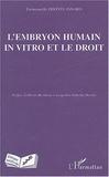 Emmanuelle Dhonte-Isnard - L'embryon humain in vitro et le droit.