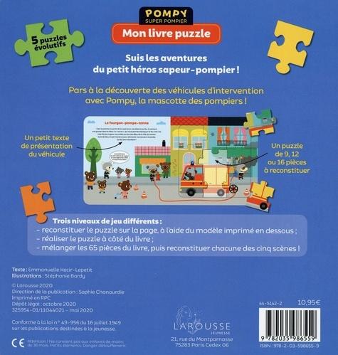Mon livre puzzle Les camions des pompiers. Avec 5 puzzles évolutifs