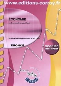 Economie UE 5 du DCG- Enoncé - Emmanuelle Legrand-Pieri |