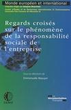 Emmanuelle Mazuyer - Regards croisés sur le phénomène de la responsabilité sociale de l'entreprise.