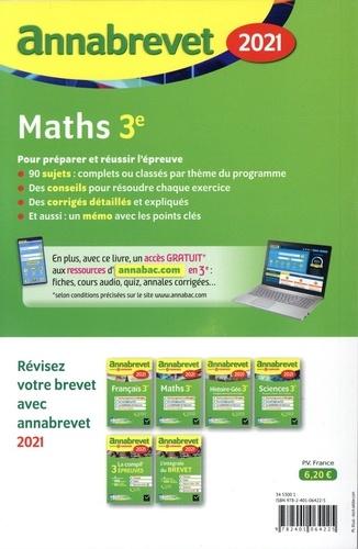 Maths 3e. Sujets et corrigés  Edition 2021