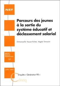 """Emmanuelle Nauze-Fichet et Magda Tomasini - Parcours des jeunes à la sortie du système éducatif et déclassement salarial - Enquête """"Génération 98""""."""