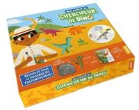 Emmanuelle Ousset - Mon coffret de chercheur de dino - Avec 1 livre, 1 crayon, des outils pour déterrer un squelette de dinosaure du bloc de plâtre, et le squelette du T.Rex  à assembler.