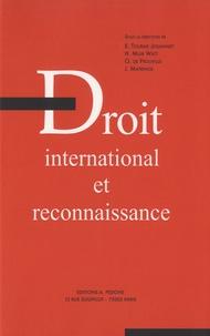 Emmanuelle Tourme-Jouannet et Horatia Muir Watt - Droit international et reconnaissance.