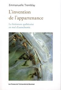 Linvention de lappartenance - La littérature québécoise en mal dautochtonie.pdf