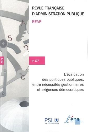 ENA - L'évaluation des politiques publiques - n°177.