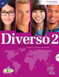 Encina Alonso - Diverso 2 A2 - Libro del alumno, cuaderno de ejercicios. 1 CD audio