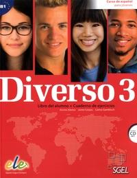 Encina Alonso et Jaime Corpas - Diverso 3 - Libro del alumno + Cuaderno de ejercicios. 1 CD audio MP3