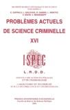 Enzo Zappala et Léonid Golovko - Problèmes actuels de science criminelle - Tome 16.