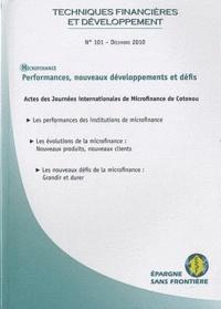 Michel Lelart et Christian Rietsch - Techniques financières & développement N° 101, Déc 2010 : Microfinance : Performances, nouveaux développements et défis.