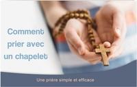 """Ephèse diffusion - Carte """"comment prier avec le chapelet"""" - Lot de 20 exemplaires."""