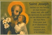 Ephèse diffusion - Cartes saint Joseph - 20 exemplaires.