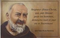 Ephèse diffusion - La prière de Padre Pio - Lot de 20 images.