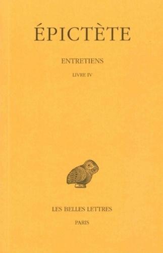 Epictète - Entretiens - Tome 4.