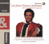 Gérard Philipe et Maria Casarès - Les plus beaux poèmes de la langue française. 1 CD audio