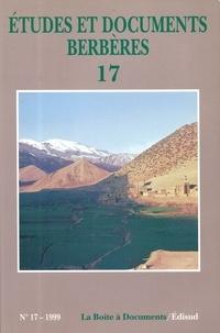 Edisud - Etudes et documents berbères N° 17/1999 : .