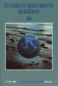Edisud - Etudes et documents berbères N° 18/2000 : .