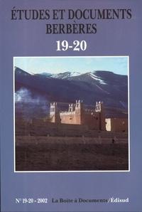 Edisud - Etudes et documents berbères N° 19-20/2002 : .