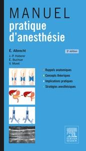 Manuel pratique d'anesthésie - Eric Albrecht pdf epub