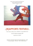 """Eric Athenot et Arnaud Regnauld - GRAAT N° 37 : """"(R)apports textuels""""."""