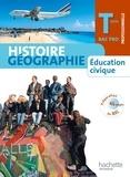 Eric Aujas et Michel Corlin - Histoire géographie Education civique Term Bac Pro - Elève Grand format.