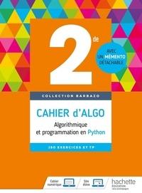 Eric Barbazo - Cahier d'algo 2nde - Algorithmique et programmation en Python.
