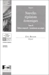Eric Besson - Nouvelles régulations économiques - Tome 2, Tableau comparatif, Amendements non adoptés, Rapport.