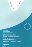 Eric Bonté et Pierre Jeuland - Mathématiques - Concours externe de professeur des écoles 2006.