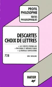 Histoiresdenlire.be DESCARTES. Choix de lettres Image