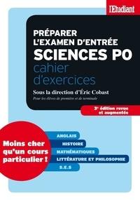 Eric Cobast et Philippe Riutort - SERIE ETUDES  : Préparer l'examen d'entrée sciences po - Cahier d'exercices S.E.S (Sciences Economiques et Sociales).