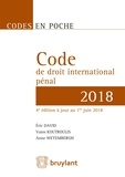 Eric David et Vaios Koutroulis - Code de droit international pénal.